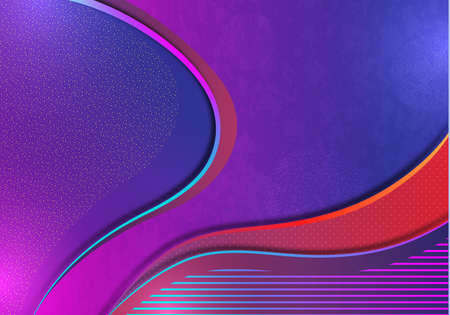 Colorful abstract wave geometric background. Gradient trend. Composition of liquid forms. Template for banner, flyer, cover, business card. illustration