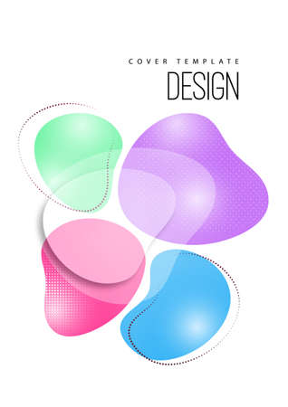 Bright, dynamic, smooth shapes. Colorful geometric background pattern. Template for corporate design, flyer or presentation. Vector illustration