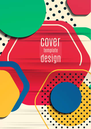 Abstract background of bright geometric shapes. Design template for presentation, leaflet, flyer, cover, brochure, report, advertisement Illustration