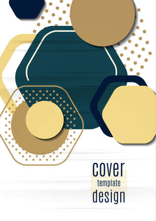 Abstract background of bright geometric shapes. Design template for presentation, leaflet, flyer, cover, brochure, report, advertisement Standard-Bild - 154923371