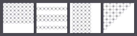 Business design templates. Set of banners with geometric pattern border on a white background. Vector illustration for your design Standard-Bild - 154441053