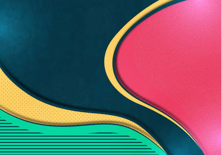 Colorful abstract wave geometric background. Composition of liquid forms. Template for banner, flyer, cover, business card. Vector illustration Illustration