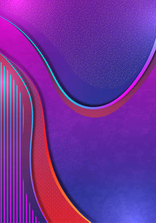 Colorful abstract wave geometric background. Gradient trend. Composition of liquid forms.