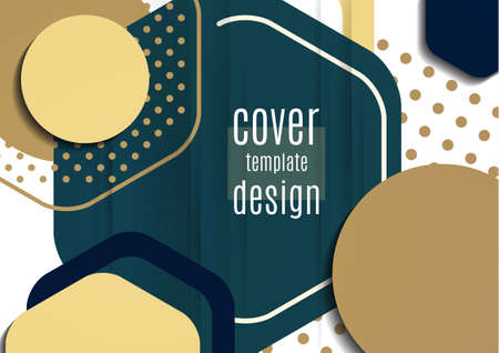 Abstract background of bright geometric shapes. Design template for presentation, leaflet, flyer, cover, brochure, report, advertisement Vector Standard-Bild - 155675185