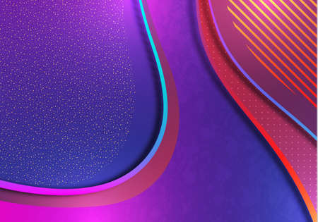 Colorful abstract wave geometric background. Gradient trend. Composition of liquid forms. Template for banner, flyer, cover, business card. Vector illustration Illustration