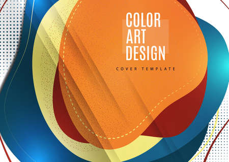 Smooth abstract intersecting shapes. Colorful advertising banner for sale. Seasonal discounts. Template with copy space for marketing. Vector illustration