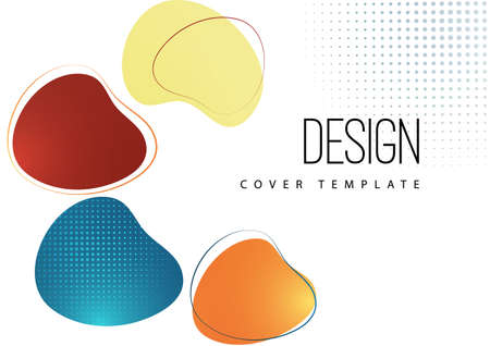 Smooth abstract shapes. Colorful advertising banner for sale. Seasonal discounts. Template with copy space for marketing. Illusztráció