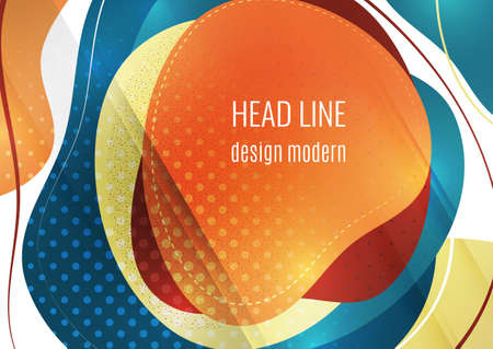 Smooth abstract overlapping shapes. Colorful advertising banner for sale. Seasonal discounts. Template with copy space for marketing. Illusztráció