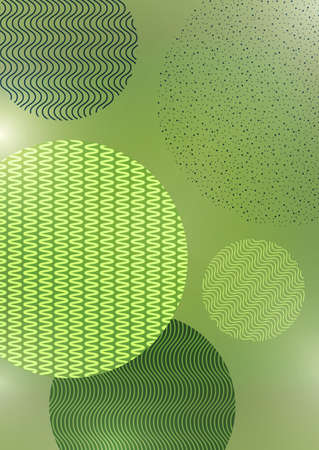 Abstract background with creative circles, points, lines on a green background. Trendy vector illustration for your design.