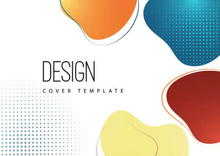 Smooth abstract shapes. Colorful advertising banner for sale. Seasonal discounts. Template with copy space for marketing. Vector illustration Standard-Bild - 155856734