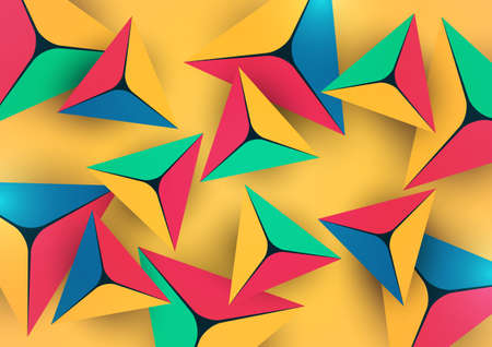Abstract colorful background with geometric elements. Pyramids, triangles. Minimal cover design. Template for your corporate design. Vector illustration Illustration