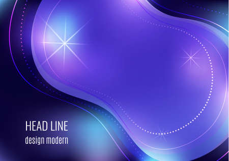 Organic design liquid colored abstract geometric shapes. Flowing gradient elements for minimal banner, social posting. Futuristic trendy dynamic elements. Vector illustration