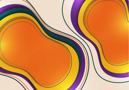 Organic design liquid colored abstract geometric shapes. Elements for a minimal banner, logo, social posting. Vector illustration 向量圖像