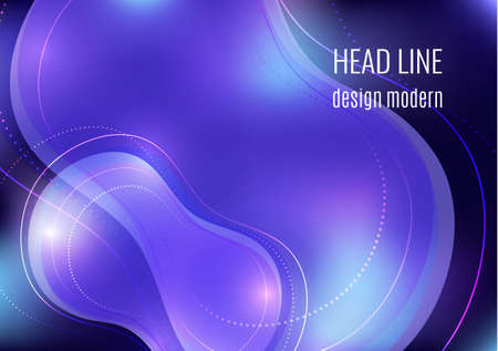 Organic design liquid colored abstract geometric shapes. Flowing gradient elements for minimal banner, logo, social posting. Futuristic trendy dynamic elements. Vector illustration