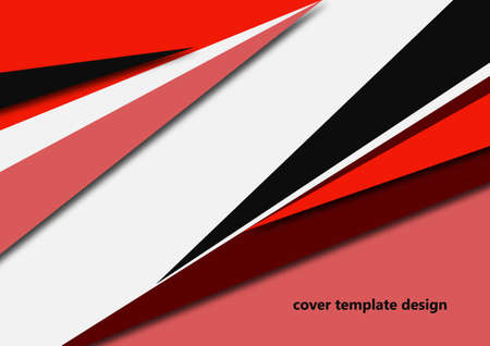 Abstract sharp corners background - business brochure layout. Vector illustration for your design
