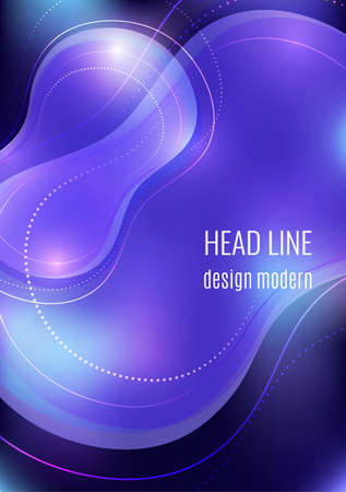 Organic design liquid colored abstract geometric shapes. Flowing gradient elements for minimal banner,, social posting. Futuristic trendy dynamic elements. Vector illustration