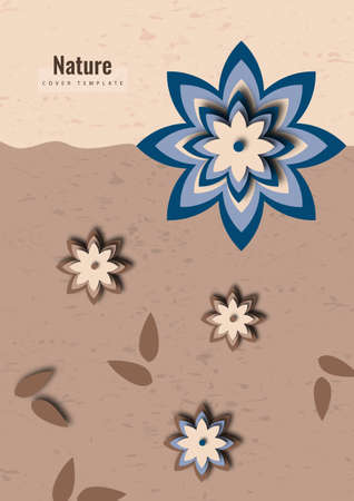 Paper graphics of a flower pattern. Fresh design for posters, brochures or vouchers. Vector illustration