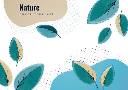 Abstract creative leaves, waves, bright modern background. Ecology concept. Vector illustration for your design. Vettoriali