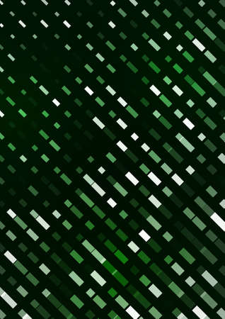 Abstract lines from intersecting rectangles on a green background. A bright element for corporate design. Vector illustration. Vettoriali