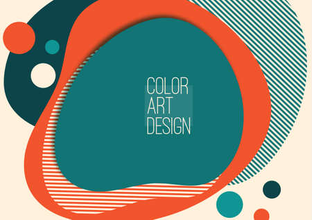 Bright, dynamic, flowing shapes. Colorful geometric background pattern. Template for corporate design, flyer or presentation. Vector illustration