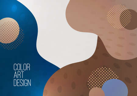 Abstract modern graphic element. Dynamic colored shapes and waves. Banner with flowing liquid shapes. Template for landing page design or website background. Vector illustration Illusztráció