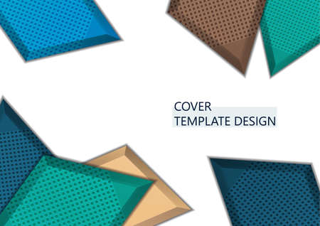 Light background with multicolor rhombuses. Abstract background for your design. Modern vector illustration.