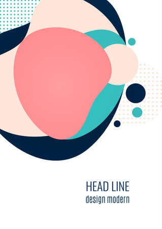 A poster with flowing colored shapes. Corporate template design for covers, posters, banners, flyers, presentations and reports. Vector illustration. Illusztráció