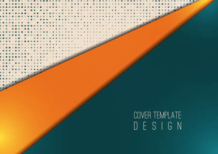 Abstract geometric background, halftone dots, polygonal style. The best design for your advertisement, poster, banner. Vector illustration