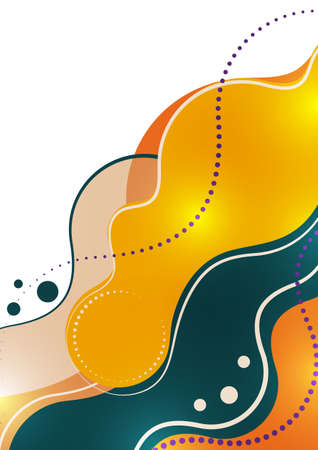 Abstract illustration of smooth color wave and lines. Creative template for your design. Vector.