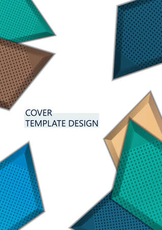 Light background with multicolor rhombuses. Abstract background for your design. Modern vector illustration. Illusztráció