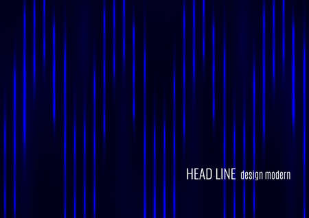 Glowing neon lines moving fast on a dark background. Blue stripes and glittering ray traces on a dark background. Futuristic design. Vector illustration