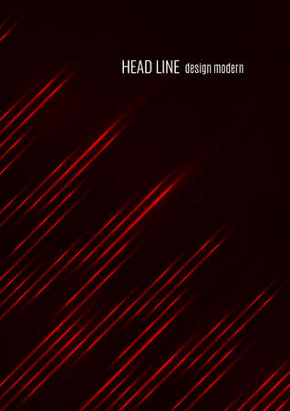Glowing neon lines moving fast on a dark background. Red stripes and glittering ray traces on a dark background. Futuristic design. Vector illustration Illusztráció