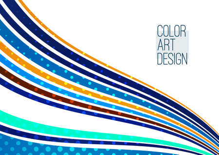 Bright abstract background, soft colored lines. Template for your design. Vector illustration Illusztráció