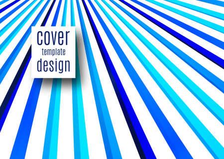 Abstract background with stylized blue stripes. Vectral illustration Illusztráció