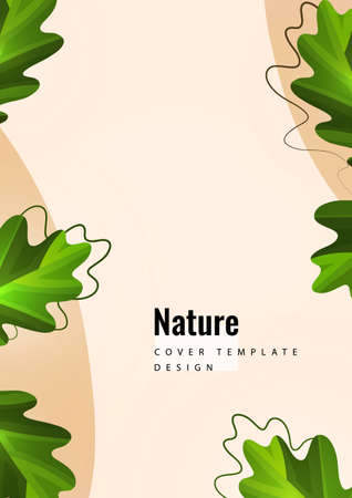 Flying leaves of nature. Vector abstract background