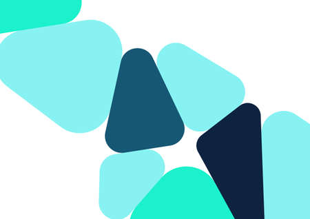 Colorful geometric background design. Trendy abstract composition with rounded triangles. Futuristic background.
