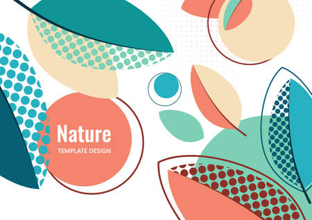 Creative leaves, dots texture on white background. Summer Sale. Trendy art for cover, poster, internet, page, social, media, announcements, greetings postcards Vector illustration Illustration