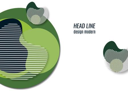 Bright geometric shapes, circle, stripes, fluid. Overlap banner template for social media. Business or technology presentation design template, brochure or flyer template. Vector illustration