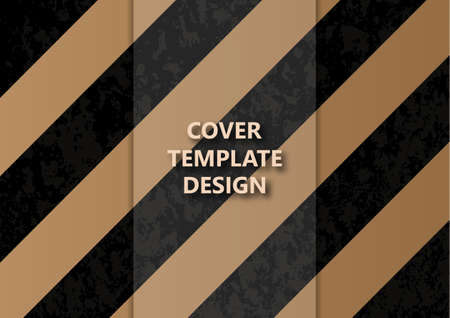 Beige stripes on a black background. Striped diagonal pattern for printing on fabric, paper, wrapping, scrapbooking, websites. Vector illustration