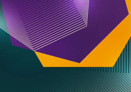 Trendy abstract background. Composition of geometric shapes and lines. Vector illustration
