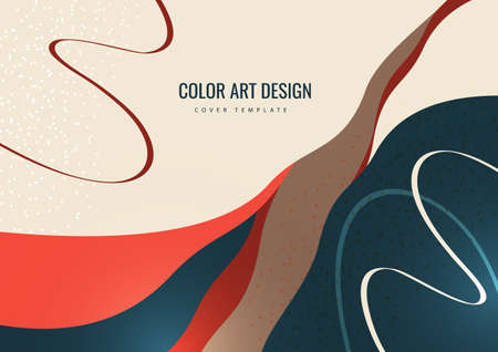 Bright colored waves covering. Modern design template. Vector illustration