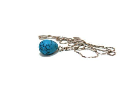 nger: Kette mit dem blauem Anh�nger