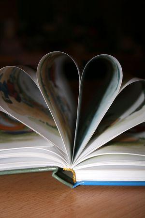 Aufgeschlagenes Buch Stock Photo