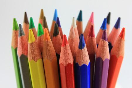 colored backgound: color pencils