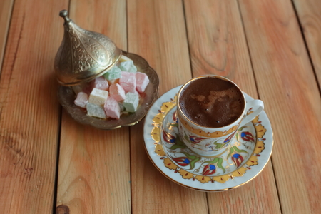 turkish coffee: turkish coffee in the cup