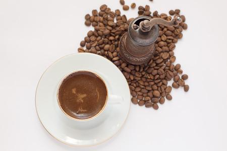 breakfeast: coffee cup and coffee grinder