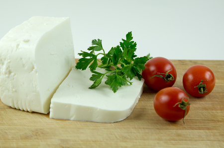 Cheese, tomato and parsley