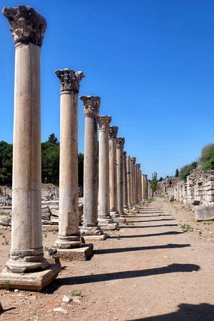 Ephesus columns in selcuk