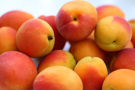 Ripe apricots fruit background