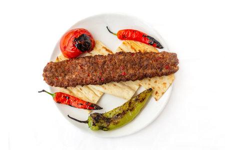 Traditional Turkish food, Adana kebap with lamb meat